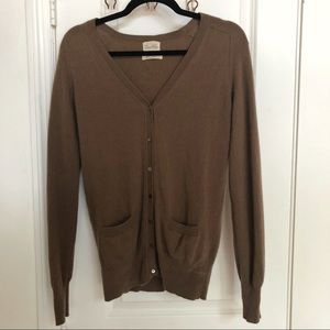 100% cashmere brown cardigan